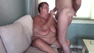 Mature XXX :He had to Cum on her Huge Tits after Blowjob