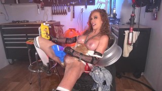 Bit Tits XXX :Girl Fills Herself With Motor Oil And Fucks Herself With Tools Fucking HOT