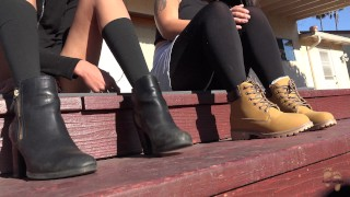 Lesbian XXX :Outdoor Winter Boots Hang Out Stomping Grounds