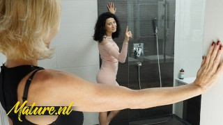 Lesbian XXX :Naughty Step Mom Joins Her Stepdaughter In The Shower