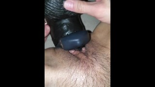 MILF XXX :Milf enjoys long thick black King Cock Dildo Puts it all in with cock ring